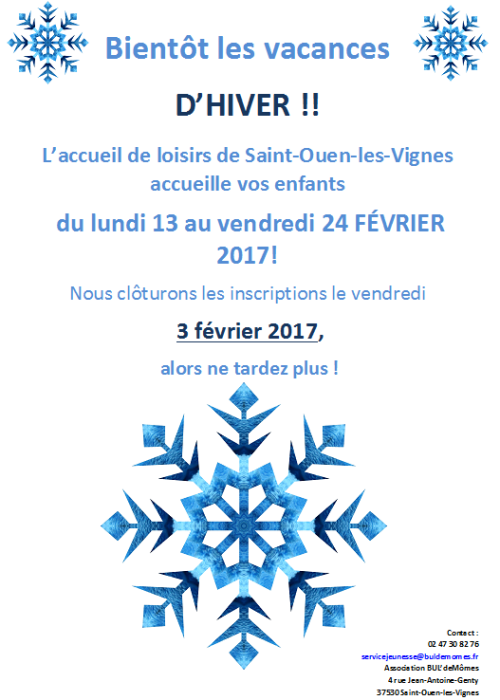Affiche vacances d'hiver typepad